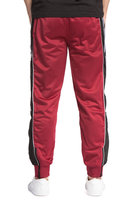 222 Banda 10 Alen Red Bordeaux Black Pants - Back