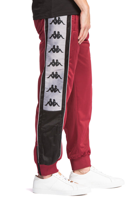 222 Banda 10 Alen Red Bordeaux Black Pants - Side 1