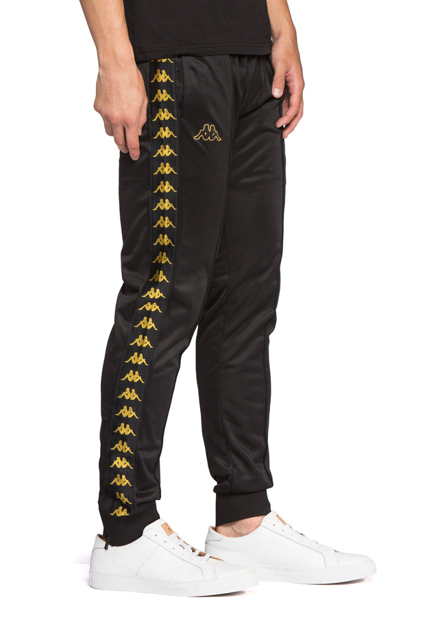 222 Banda Rastoria Slim Black Gold Pants