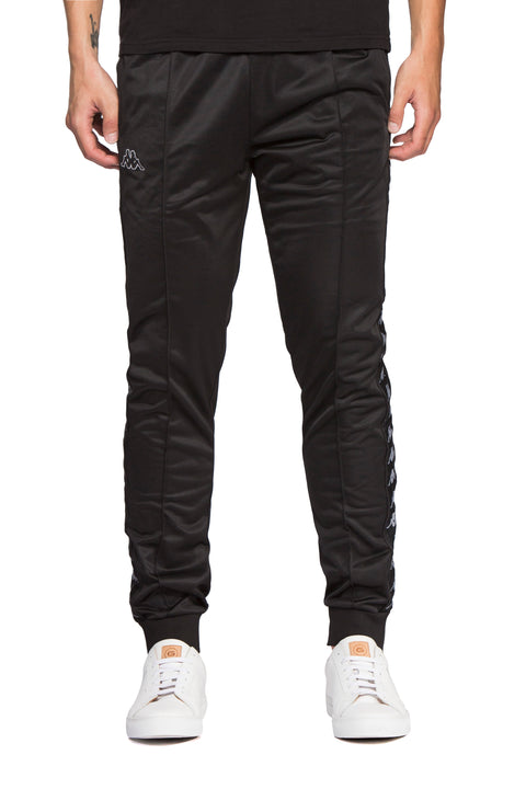 Kappa 222 Banda Rastoria Slim Black Grey Pants