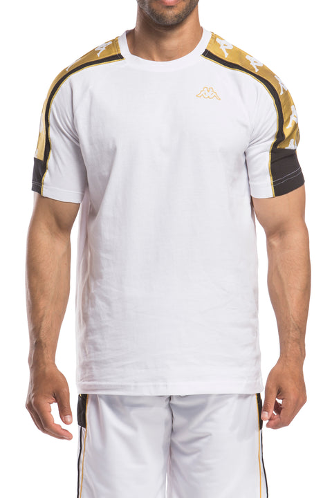 222 Banda 10 Arset White Yellow Gold T-Shirt - Front