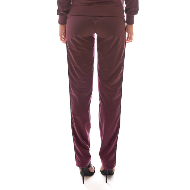 222 Banda Wastoria Trackpants - Plum White Egg Black