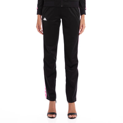 222 Banda Wastoria Trackpants Black Fuchsia