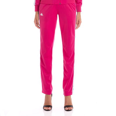 222 Banda Wastoria Trackpants - Fuchsia White