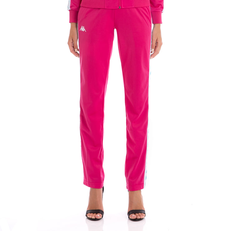 222 Banda Wastoria Trackpants Fuchsia White