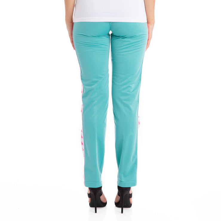 222 Banda Wastoria Trackpants - Green Lt White
