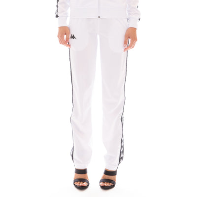 222 Banda Wastoria Trackpants - White Black