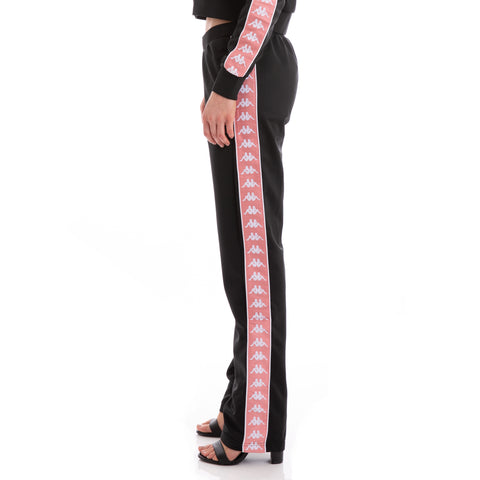 Kappa 222 Banda Wastoria Black Pink White Trackpants