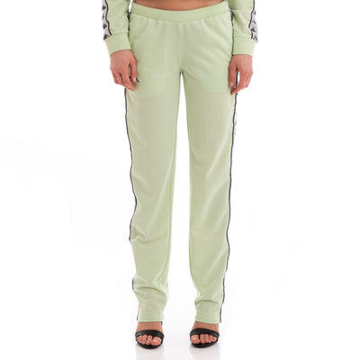 Kappa 222 Banda Wastoria Green Greysilver Black Trackpants