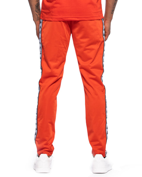 222 Banda Astoria Slim Red Orange Black Track Pants