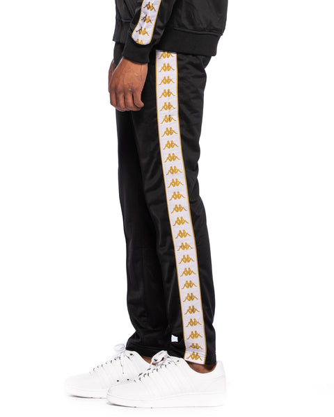 222 Banda Astoria Slim Black White Gold Track Pants