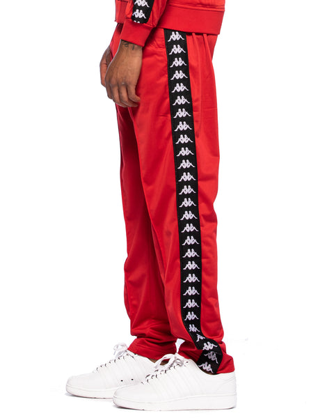 222 Banda Astoria Slim Red Black White Track Pants