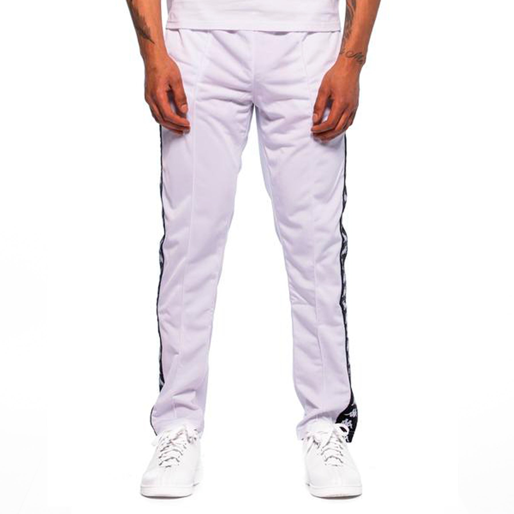 c6ee282c Kappa Mens 222 Banda Astoria Slim White Black Track Pants – Kappa USA