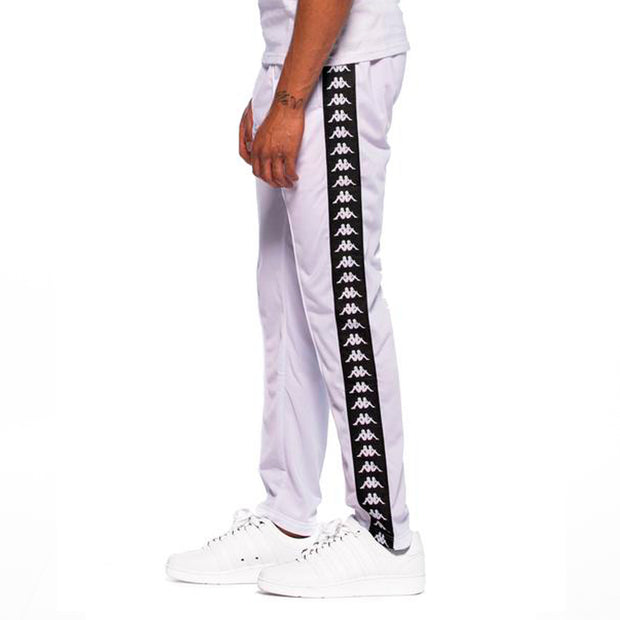 222 Banda Astoria Slim White Black Track Pants