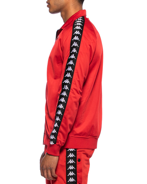 222 Banda Anniston Slim Red Black White Track Jacket
