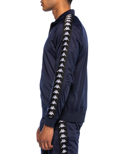 222 Banda Anniston Slim Blue Marine Black Track Jacket