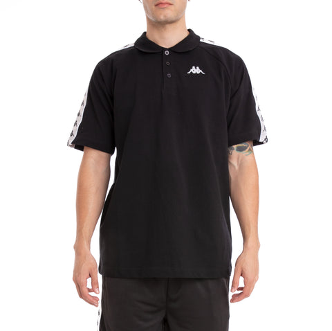 Kappa 222 Banda Calsi Black Grey Silver White Polo