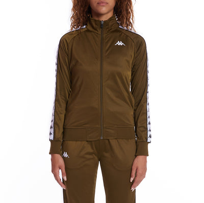 222 Banda Wanniston Slim Track Jacket - Green