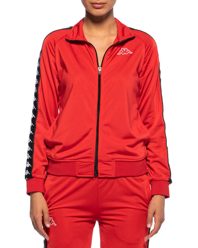 Kappa Womens 222 Banda Wanniston Red Slim Jacket - Front