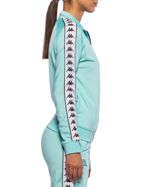 Kappa Womens 222 Banda Wanniston Turquoise Slim Jacket - Side