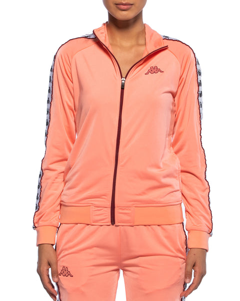 Kappa Womens 222 Banda Wanniston Pink Slim Jacket - Front
