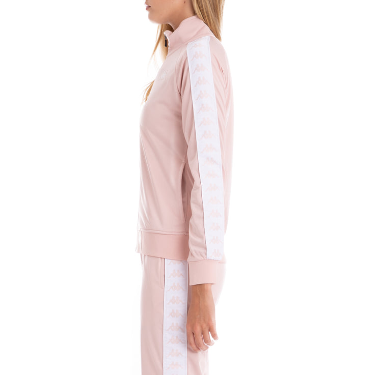 222 Banda Wanniston Slim Track Jacket - Pink White