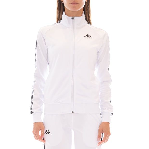 222 Banda Wanniston Slim Track Jacket - White Black
