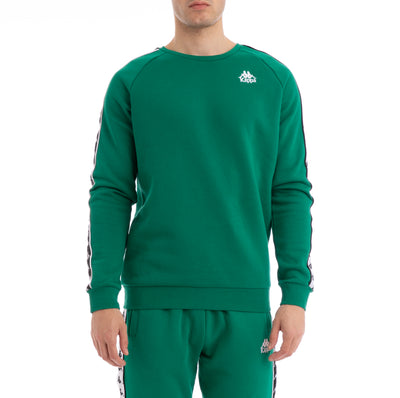 Kappa 222 Banda Arbir Alternating Banda Green Black White Sweatshirt