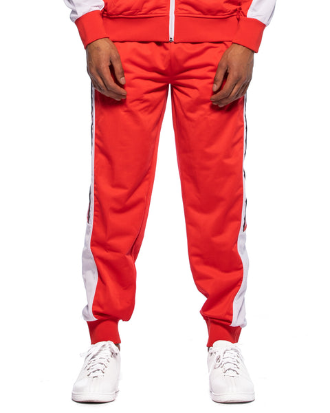 222 Banda 10 Alen Red Flame White Pants - Front
