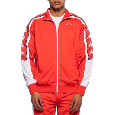 Kappa Mens 222 Banda 10 Ahran Red Flame Jacket - Front