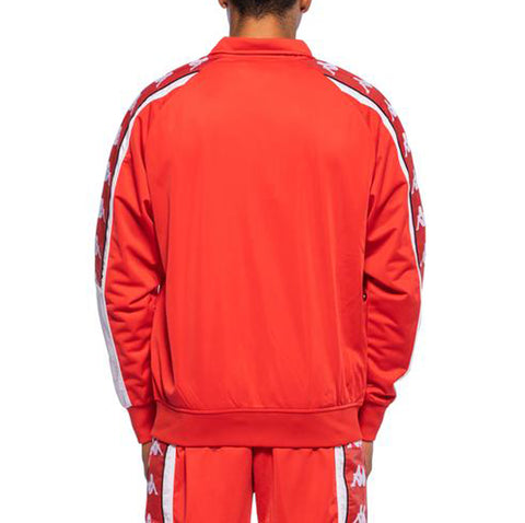 Kappa Mens 222 Banda 10 Ahran Red Flame Jacket - Back