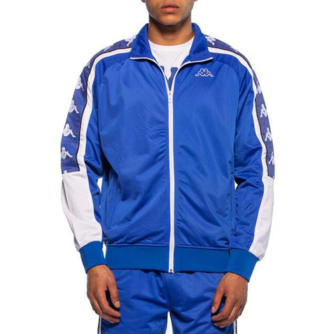 Kappa Mens 222 Banda 10 Ahran Blue Royal Jacket - Front