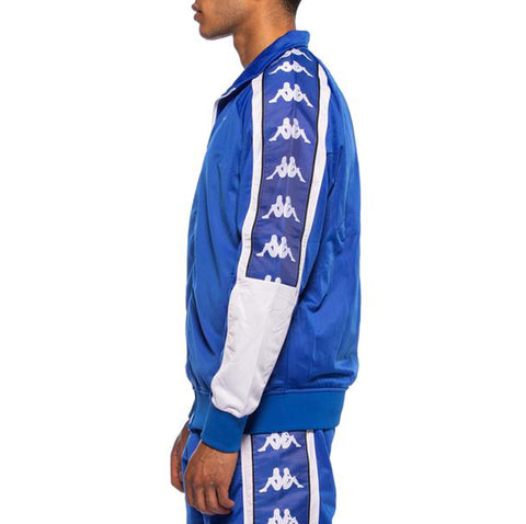 Kappa Mens 222 Banda 10 Ahran Blue Royal Jacket - Side