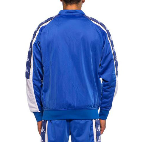 Kappa Mens 222 Banda 10 Ahran Blue Royal Jacket - Back