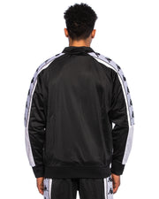 Kappa Mens 222 Banda 10 Ahran Black Jacket - Back