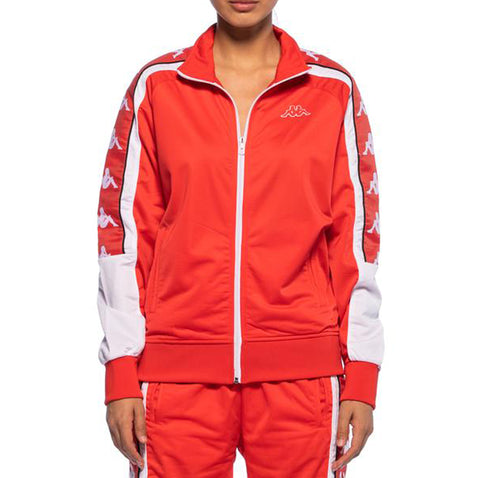 Womens 222 Banda 10 Anay Red Track Jacket - Front