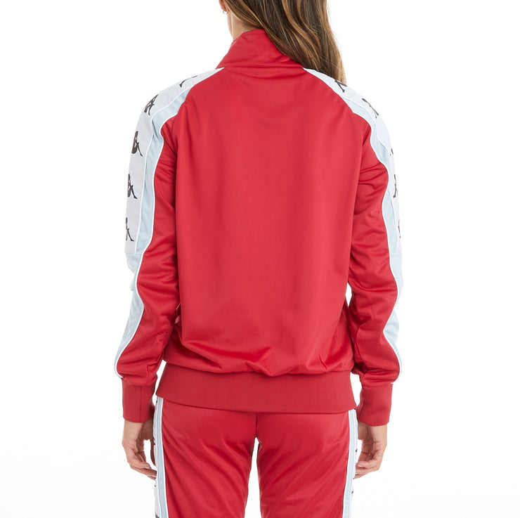 Kappa 222 Banda 10 Anay Track Jacket - Red Cyclamen Baby Blue White