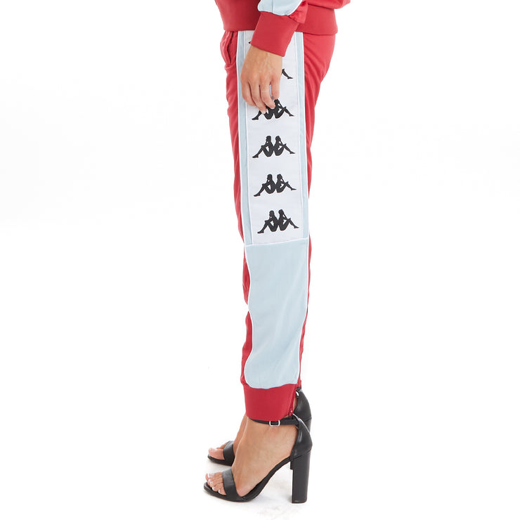 Kappa 222 Banda 10 Arsis Trackpants - Red Cyclamen Baby Blue White