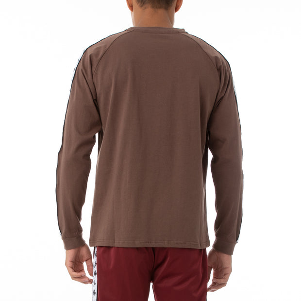 222 Banda Auyen Long Sleeve T-Shirt - Grey Russet White