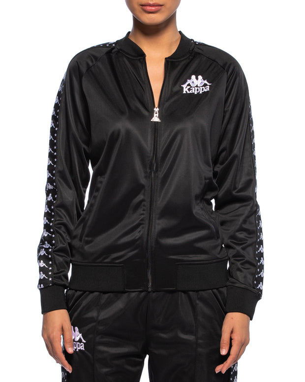 Kappa Womens Authentic Awente Black Jacket - Front
