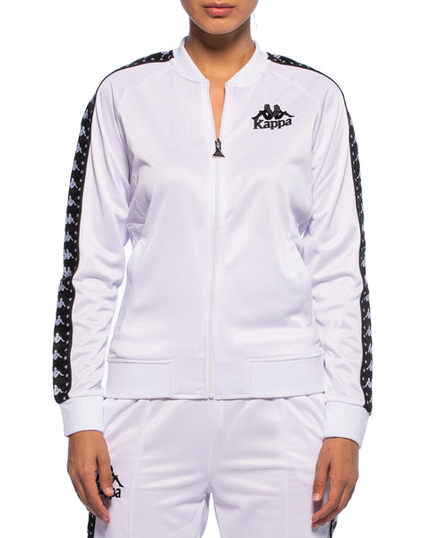 Kappa Womens Authentic Awente White Track Jacket - Front