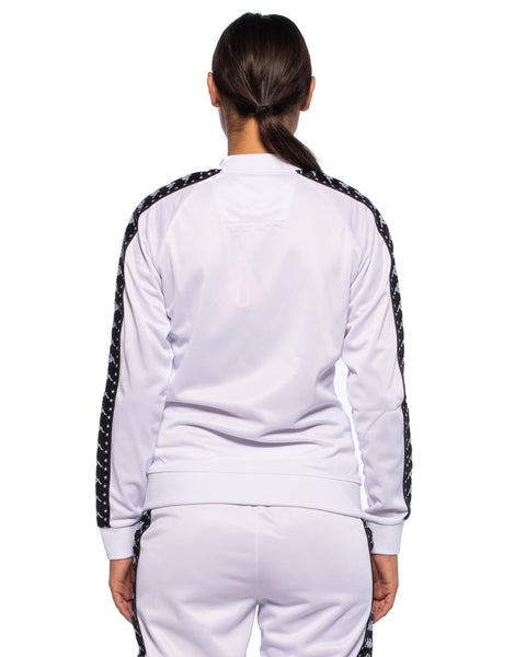 Kappa Womens Authentic Awente White Track Jacket - Back