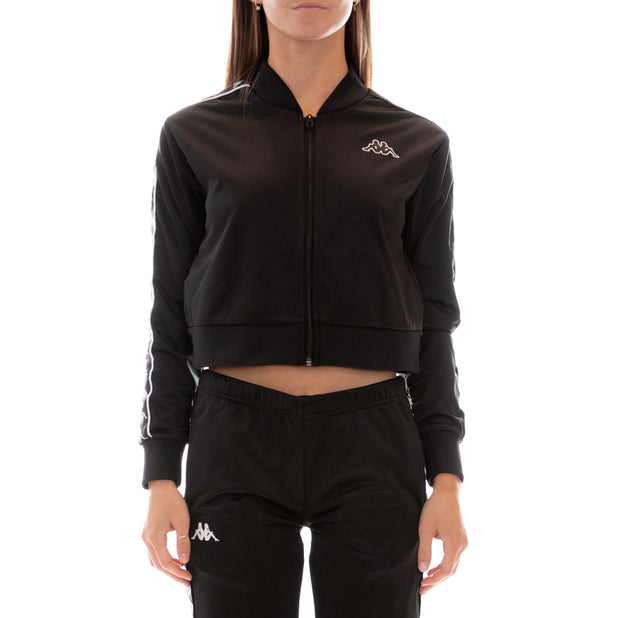 222 Banda Asber Track Jacket - Black White