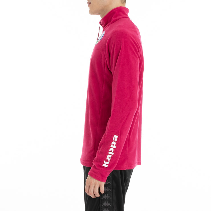 6Cento 687B Fisi Fleece Jacket - Red Cerise