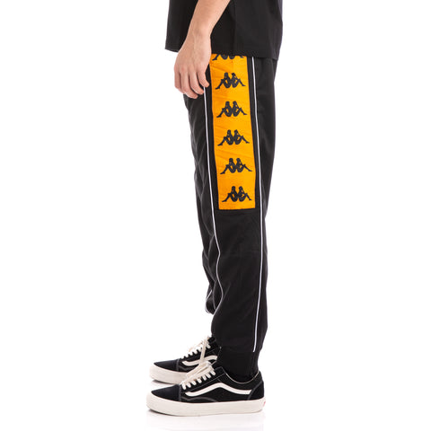 Kappa 222 Banda 10 Alen Black Orange White Trackpants