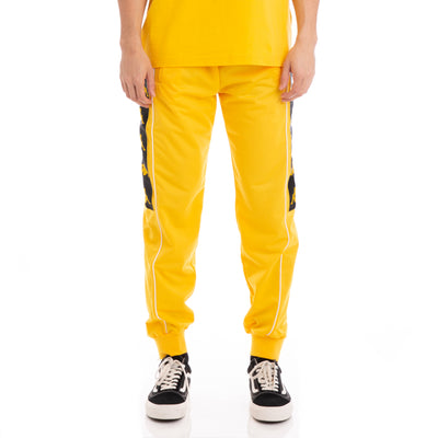 Kappa 222 Banda 10 Alen Yellow Black White Trackpants
