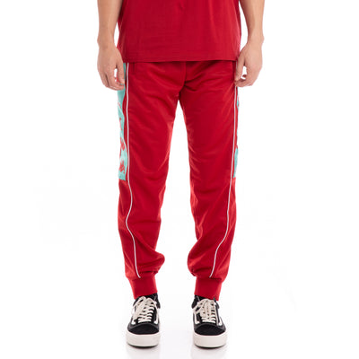 KAPPA 222 Banda 10 Alen Red Chili Green White Trackpants