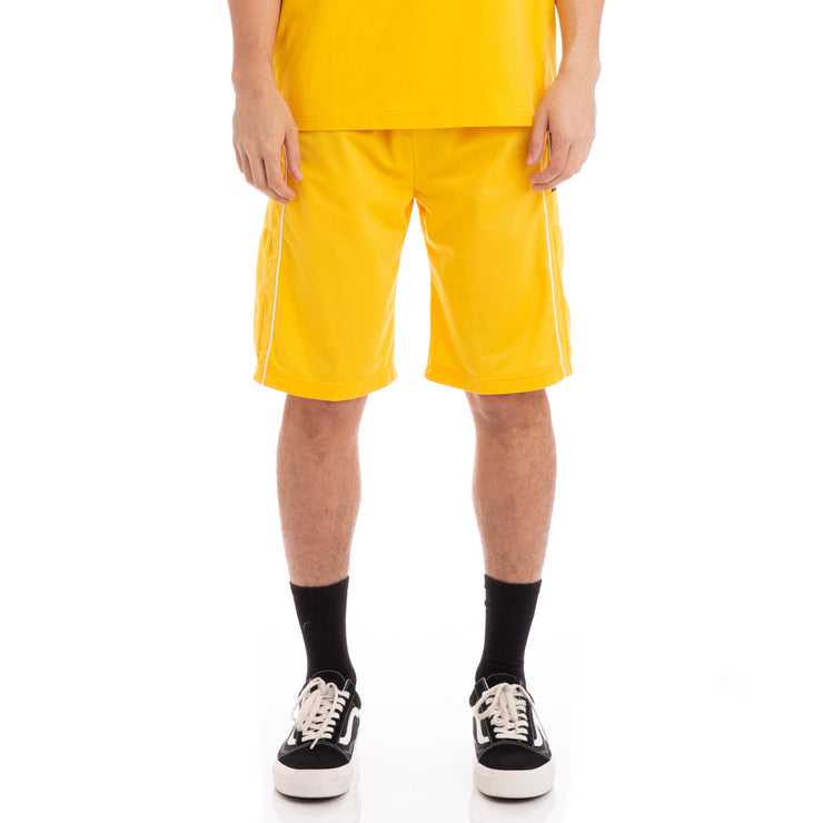 Kappa 222 Banda 10 Arwell Yellow Black White Shorts