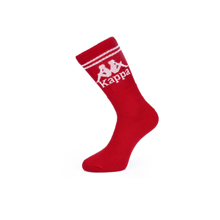 Authentic Aster 1 Pack Socks - Red Dk White