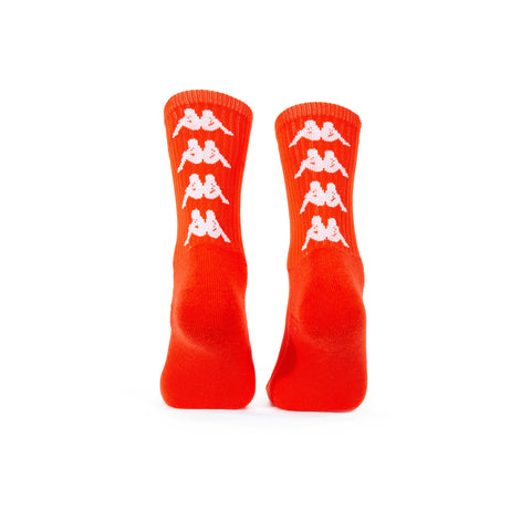 Authentic Amal 1 Pack Red Orange White Socks - BACK